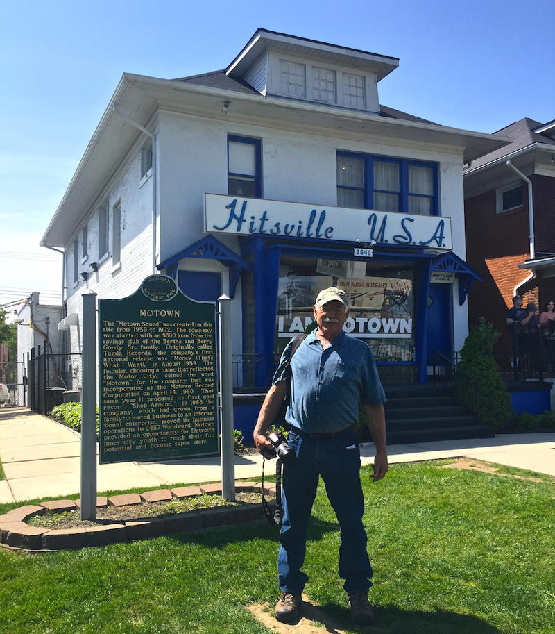 Correspondent Tom Wilmer at Hittsville USA Motown Records Museum