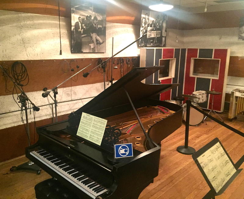 "Vintage piano in ""Studio A"" Motown Record Museum"