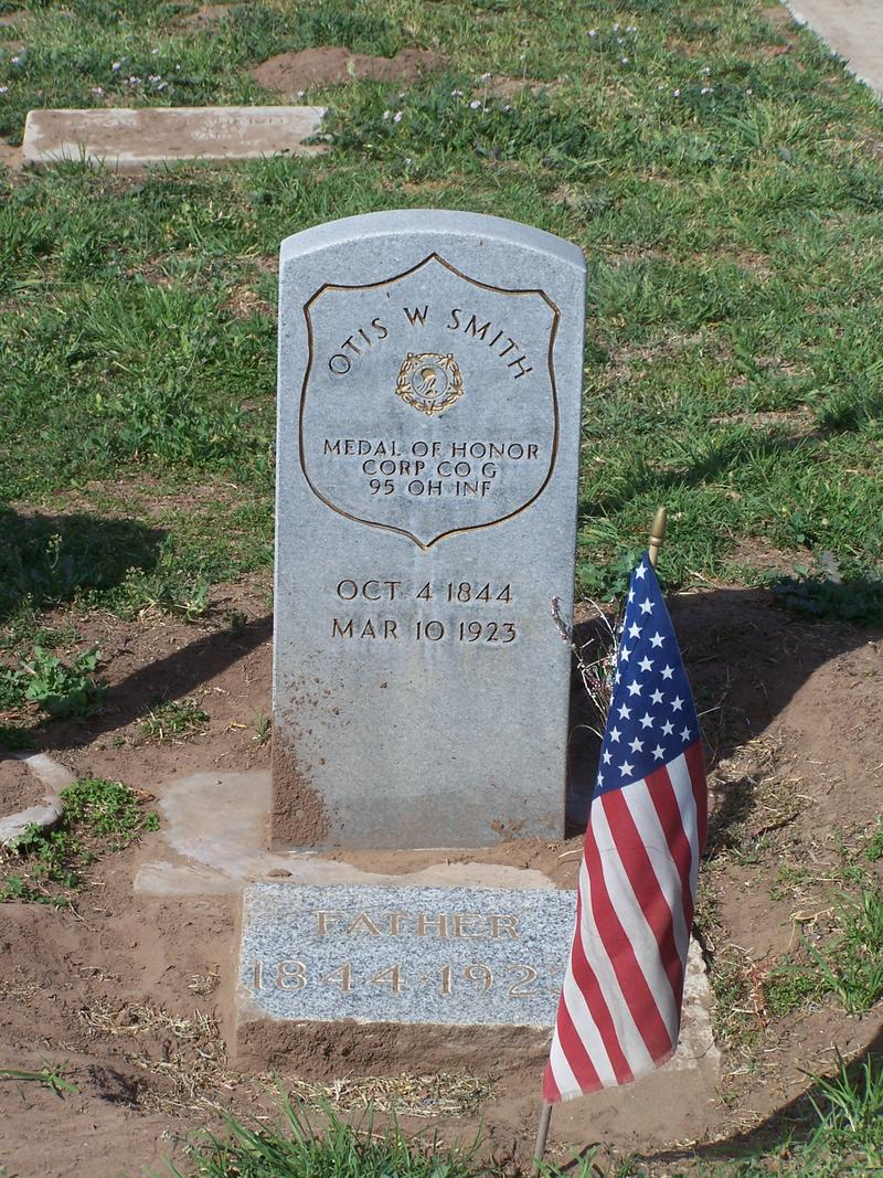 Medal of Honor winner, Otis W. Smith's grave in the Arroyo Grande District Cemetary