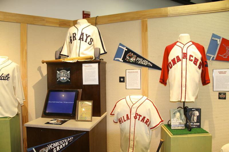 The Negro Baseball exhibit will be up through July 2016