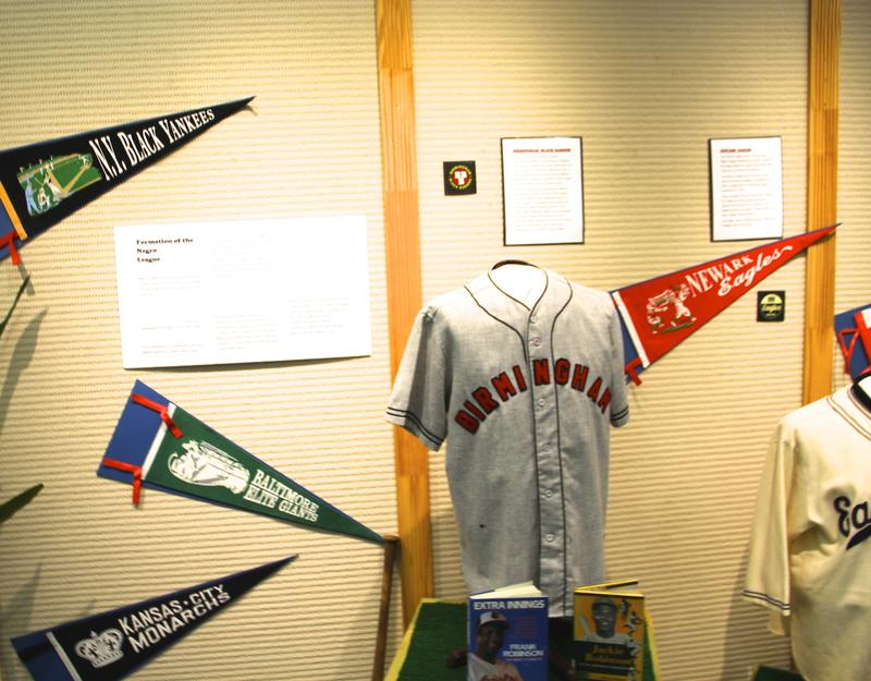 Pennants from the variouse Negro League baseball teams around the country