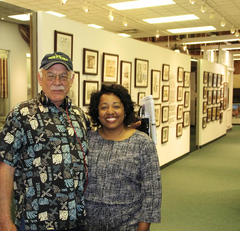 correspondent Tom Wilmer with Doinne Jennings President of the Bessie Smith Center in Chattanooga