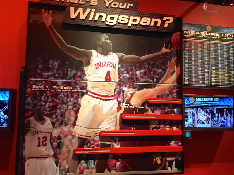 Wingspan check at College Basketball Exeperience