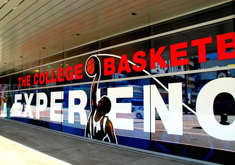 College Basketball Experience facade