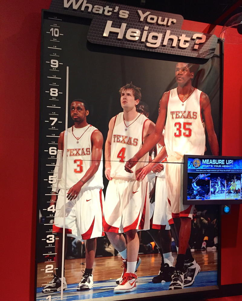 Check your height at College Basketball Experience
