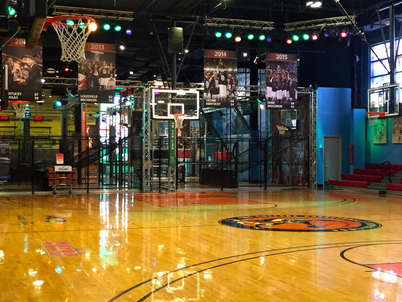 State of the art court at College Basketball Experience