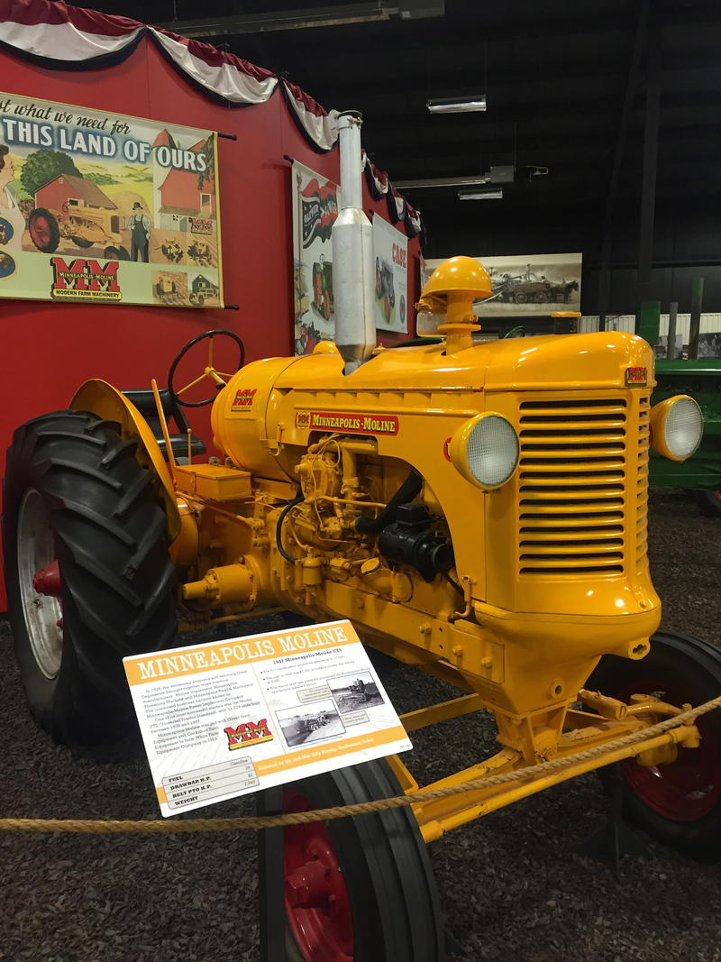 tractor on display at Bayer Museum of Agriculture