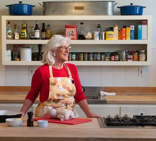 Mary Risley in her cooking school kitchen in San Francisco