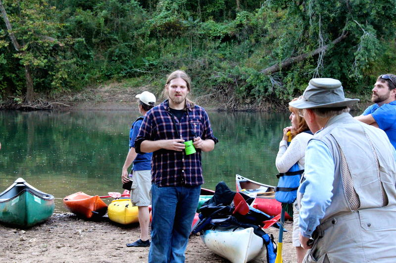 Buffalo Outfitters ben Milburn ready to lead a river tour