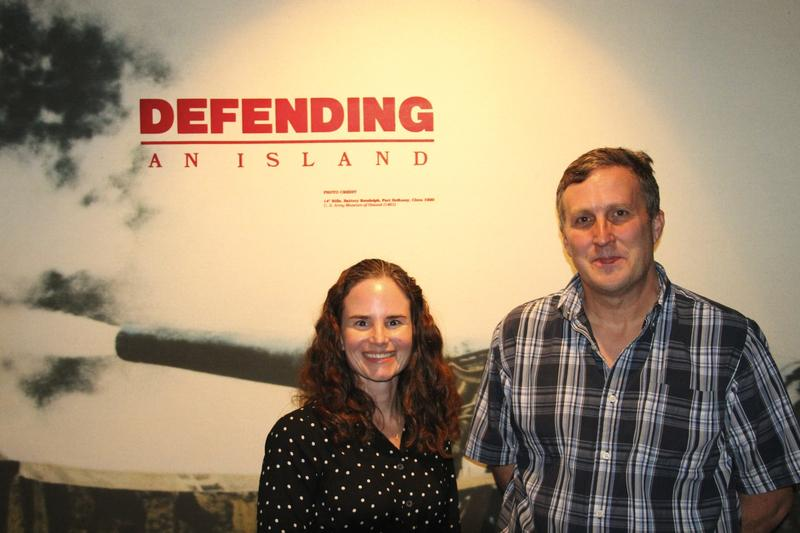 Kathleen Ramsden and Ian Frazier at the U.S. Army Museum of Hawaii