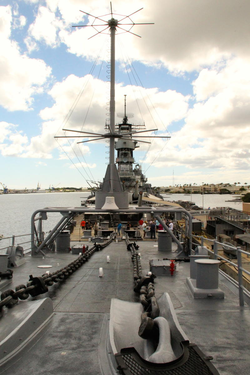 USS Missouri three football fields long