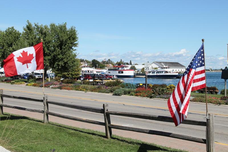 St. Ignas, Michigan harborfront