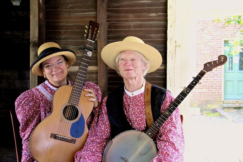 American root musicians, Suzanne and Jim perform at Historic Arkansas Museum in Little Rock, Arkansas