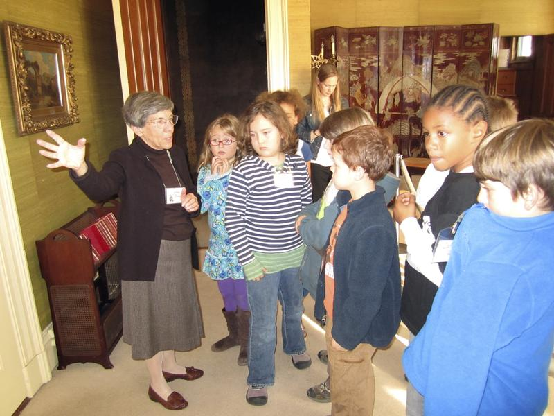 Kids on a Heritage Hikes tour of Haas-Lilienthal Victorian