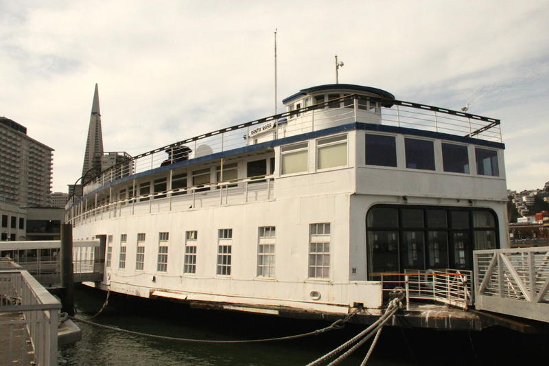 Hornblower Cruises corporate offices are fittingly aboard circa-1920s Santa Rosa ferry boat