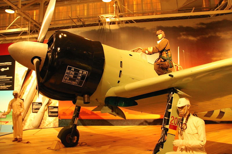 Restored Japenes fighter on display at Pacific Aviation Museum