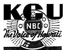 KGU Honolulu radio station logo 1941