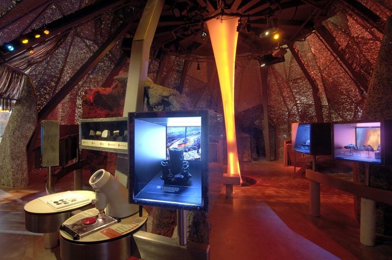 Bishop Museum Adventure Science Center--inside the volcano