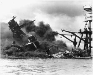 USS Arizona sinking December 7th 1941