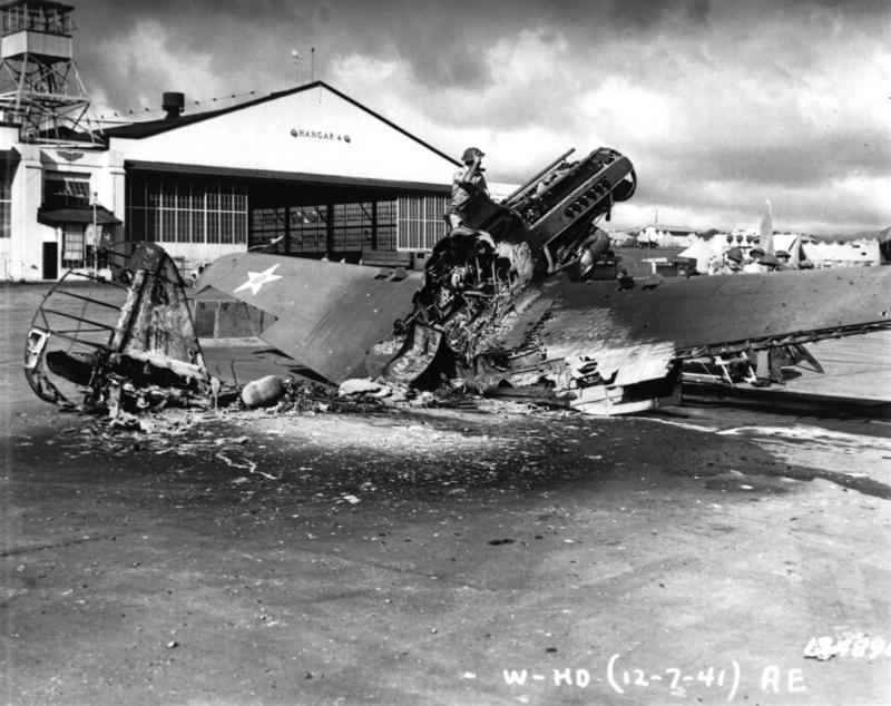 Wheeler Field damage December 7th 1941