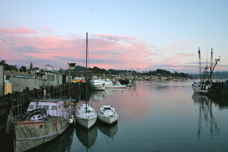 Dusk in Morro Bay Harbor