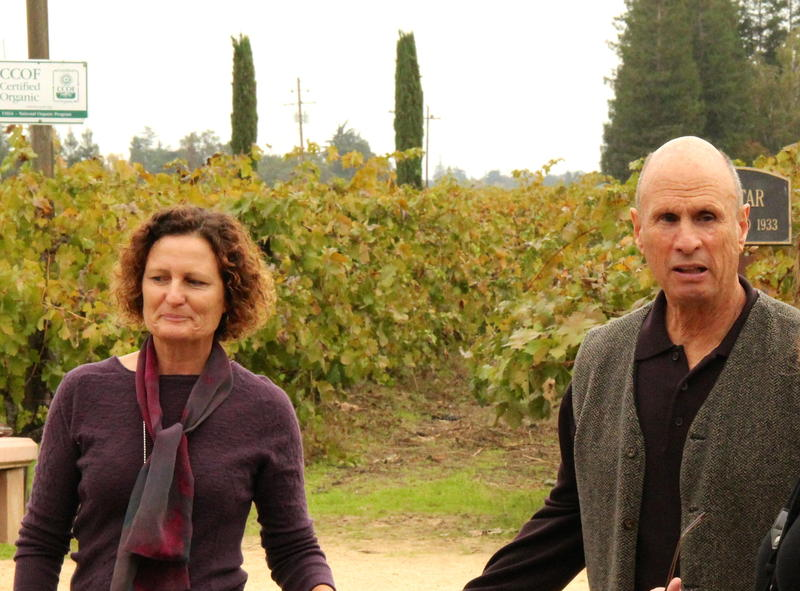 Heather Pyle-Lucas and David Lucas at their Lodi Lucas Winery
