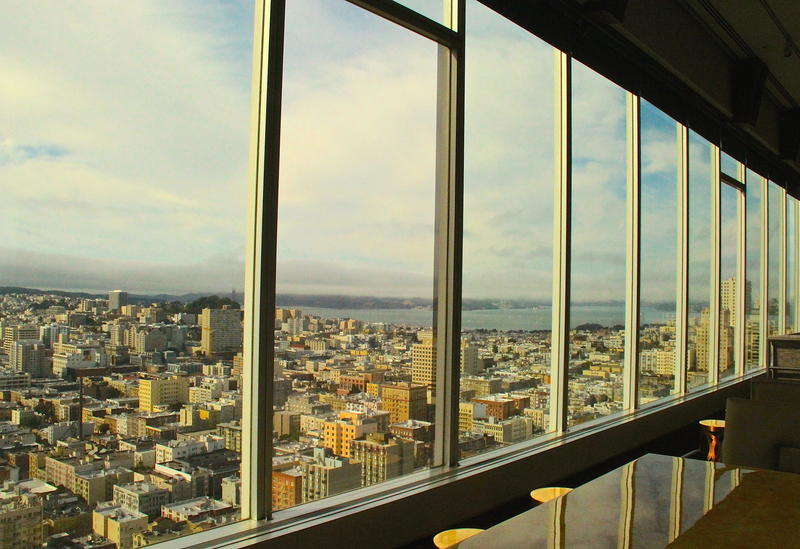 Dramatic San Francisco vistas from 46th floor Cityscape Bar & Lounge