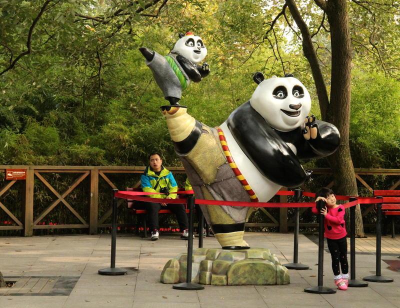 Kids adore the Giant Pandas at Chengdu Giant Panda Research Base