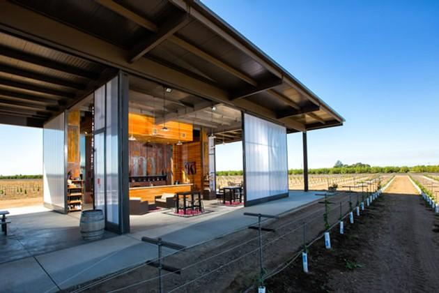 m2 Wines Lodi California tasting room and processing