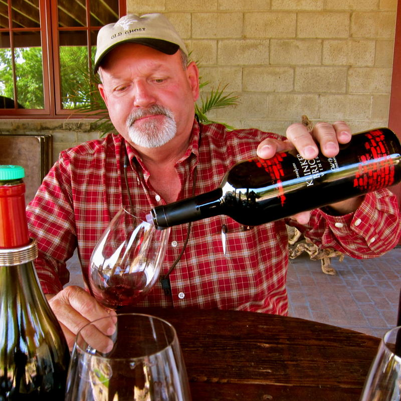 Grower, winemaker, Steve Felton at his Klinker Brick Winery
