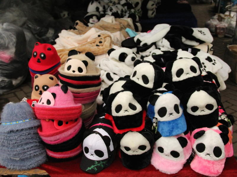 Panda Apparell abounds throughout China