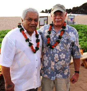 Clifford Nae'ole (L) with correspondent Tom Wilmer