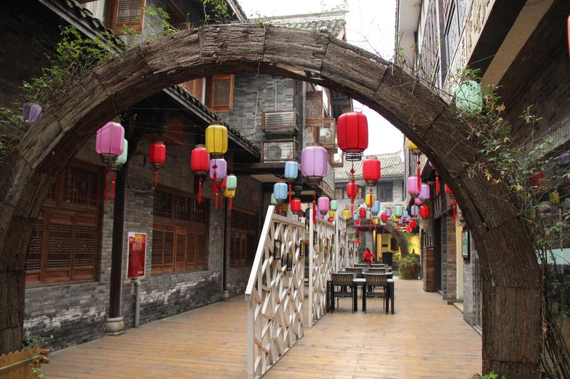 Typical streetscape in Pingle Ancient Town China