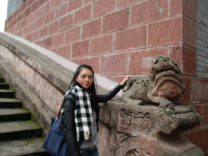 Liu Mei in Pingle Ancient Town, Sichuan Province, China