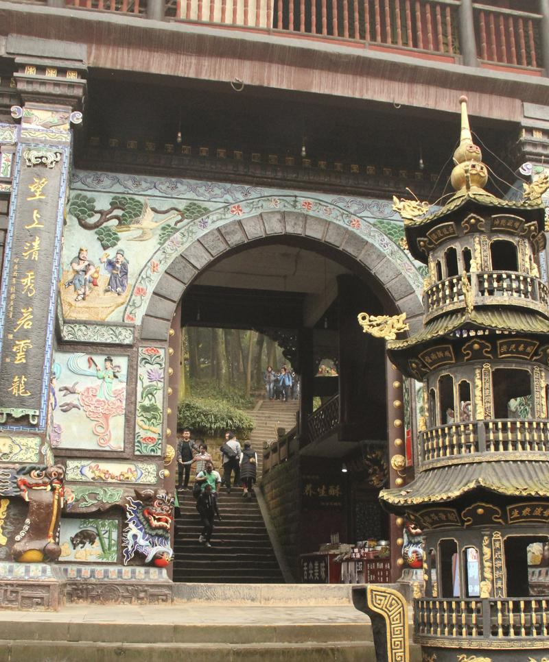 Sacred Temple Complex at Mount Emei