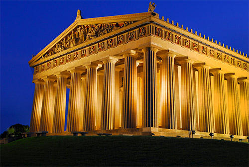 Mention the name Nashville, Tennessee, and the first things that comes to mind are invariable music, musicians, and songwriters.   Nashville is known far and wide as Music City, but it's also the home to a full-size exact replica of the Parthenon in Athen
