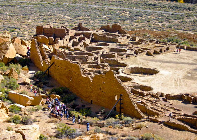 Chaco Canyon's four-story tall Pueblo Bonito