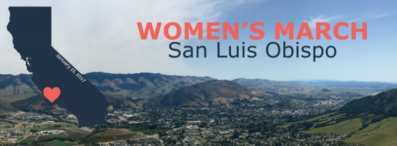 A screenshot from the Women's March SLO website.