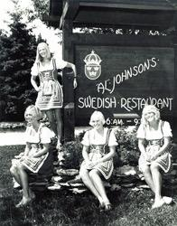 Al Johnson's Swedish Restuarant waitresses (1974)