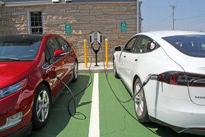 Electric Vehicle charging station in Door County, Wisconsin