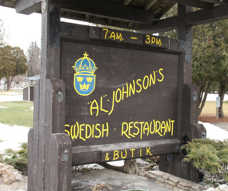 Lars Johnson at Al Johnson's Swedish Restaurant