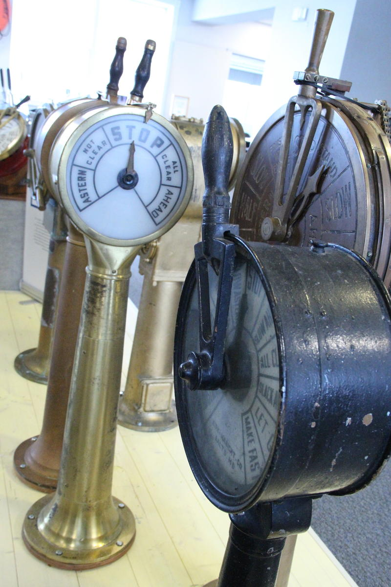 Engine room telegraphs at Door County Maritime Museum