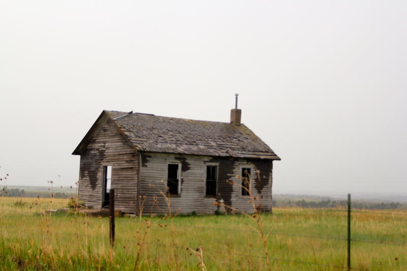 If walls could talk--decaying homestead on outskirts of North Platte, Nebraska
