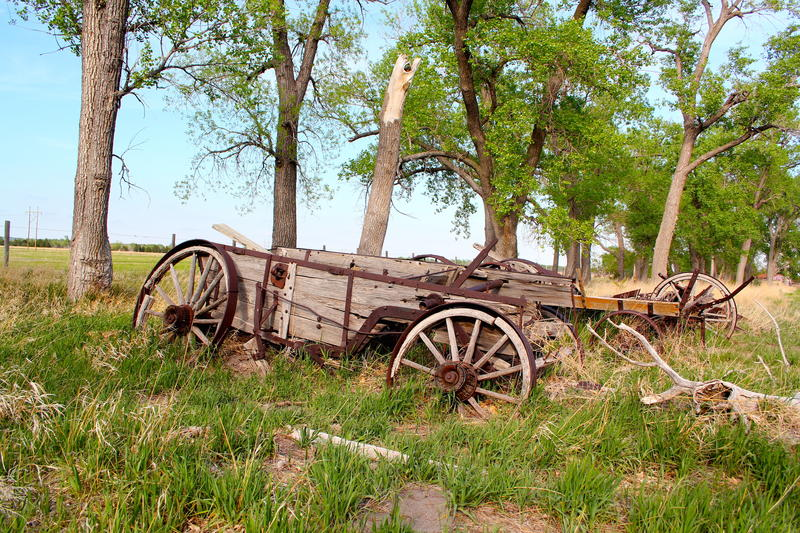 End of the road for old wagon at Buffalo Bill Ranch