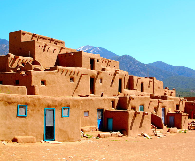 Taos Pueblo-- iconic Southwest image