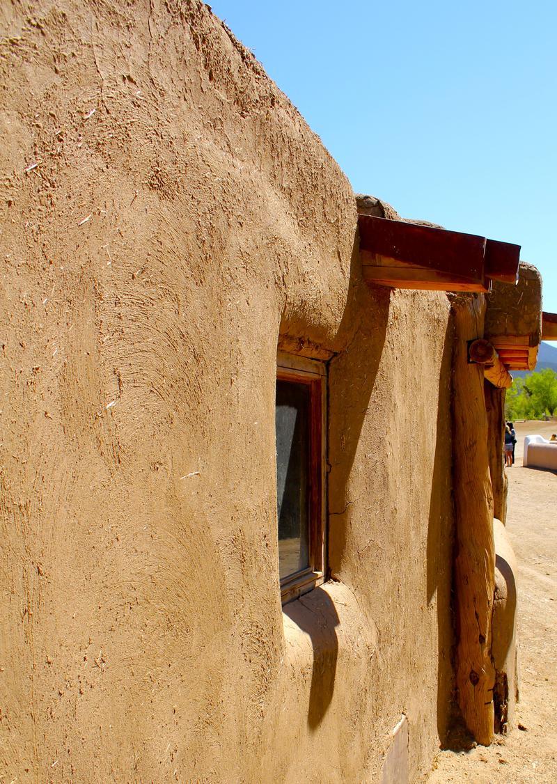 Taos Pueblo adobe wall