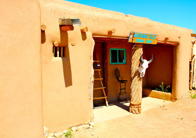 Taos Pueblo shop catering to tourists