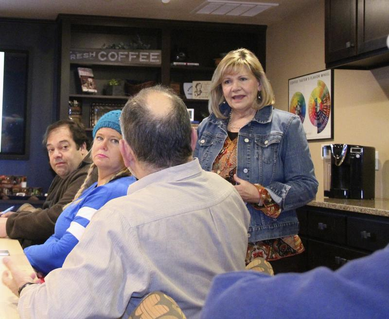 Vicki Wilson teaches Coffee 1-A in her Coffee College at Door County Coffee and Tea Company