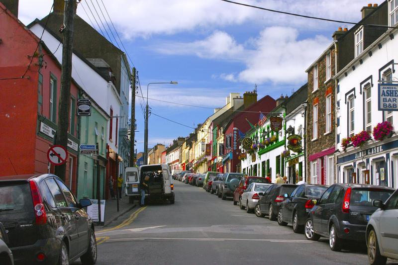 Quaint village of Dingle along the Wild Atlantic Way, County Kerry, Ireland