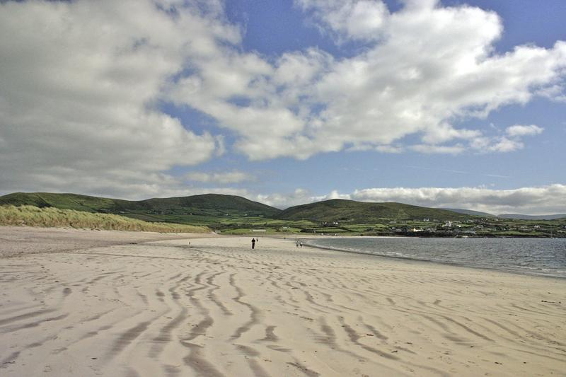 Sandy beach County Kerry, Ireland along the Wild Atlantic Way